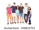 teenagers isolated in white... | Shutterstock . vector #348823751