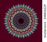 mandala. vintage decorative... | Shutterstock .eps vector #348826229