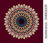 mandala. vintage decorative... | Shutterstock .eps vector #348826235