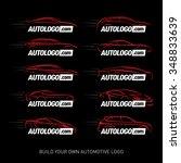 car logotypes silhouette   car... | Shutterstock .eps vector #348833639