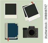 photo set. camera  photos ... | Shutterstock .eps vector #348848747