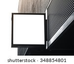 signboard shop mock up square... | Shutterstock . vector #348854801