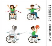 set of vector illustration with ... | Shutterstock .eps vector #348855311