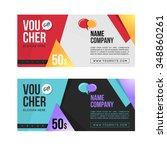 gift voucher template set. two...   Shutterstock .eps vector #348860261