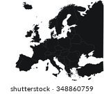 silhouette of the continent... | Shutterstock . vector #348860759