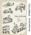 transport. vintage set | Shutterstock .eps vector #348867341