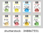 vector hand drawn sketch fruits ... | Shutterstock .eps vector #348867551