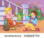 Cinderella. Fairy Tale. A Cute...