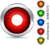 rec detailed button. vector... | Shutterstock .eps vector #34887073