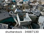 sorting computer parts for... | Shutterstock . vector #34887130