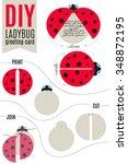 do it yourself ladybug greeting ...   Shutterstock .eps vector #348872195