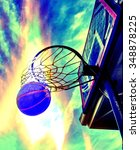 basketball swoosh in the net   Shutterstock . vector #348878225