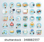set of business promotion ... | Shutterstock . vector #348882557