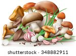 group of different edible... | Shutterstock .eps vector #348882911