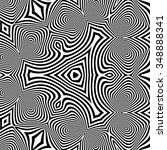 pattern with optical illusion.... | Shutterstock .eps vector #348888341