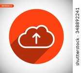 cloud upload  linear icon. one...