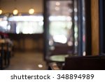 blur coffee cafe shop with... | Shutterstock . vector #348894989