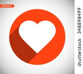 heart icon. one of set web icons   Shutterstock .eps vector #348898499