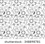 rock art seamless pattern in... | Shutterstock .eps vector #348898781