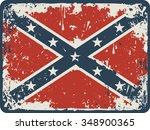 confederate rebel flag grunge... | Shutterstock .eps vector #348900365