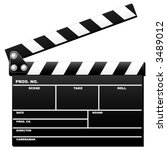 opened movie clapboard used by... | Shutterstock .eps vector #3489012