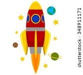 Vector Illustration Of Rocket...