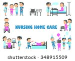 staff are caring for an elderly ... | Shutterstock .eps vector #348915509