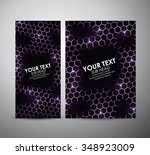 abstract purple geometric... | Shutterstock .eps vector #348923009