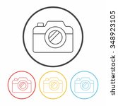 camera line icon | Shutterstock .eps vector #348923105