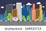 city background   Shutterstock .eps vector #348933719