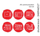 atl communication in... | Shutterstock .eps vector #348946517