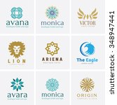 collection crests logo for... | Shutterstock .eps vector #348947441