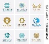 logo set logo collection crests ... | Shutterstock .eps vector #348947441