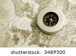 compass on europe map | Shutterstock . vector #3489500