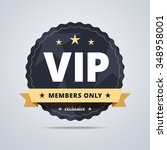round badge for vip club... | Shutterstock .eps vector #348958001