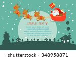 merry christmas  happy new year ... | Shutterstock .eps vector #348958871