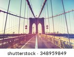 Stock photo brooklyn bridge in new york city usa 348959849