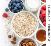 cereal and various delicious... | Shutterstock . vector #348965459