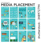 big inforgraphics set of modern ... | Shutterstock .eps vector #348972794