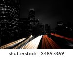 urban city and freeway traffic  ... | Shutterstock . vector #34897369