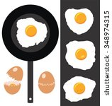 vector collection of cracked... | Shutterstock .eps vector #348974315