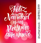 vector spanish christmas text... | Shutterstock .eps vector #348981599