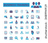 business training  icons  signs ... | Shutterstock .eps vector #348994919