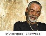 Elderly African Man Relaxing I...