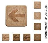 set of carved wooden left arrow ...