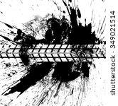 vector print textured tire... | Shutterstock .eps vector #349021514