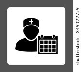 doctor appointment vector icon. ... | Shutterstock .eps vector #349022759