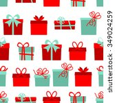 seamless pattern with gift... | Shutterstock .eps vector #349024259