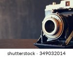 close up photo of old vintage... | Shutterstock . vector #349032014