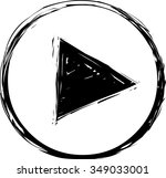 play button icon | Shutterstock .eps vector #349033001